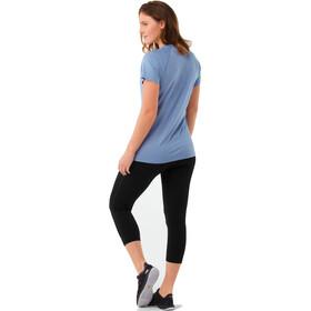 Smartwool Merino 150 Baselayer Pattern Short Sleeve Women Blue Steel
